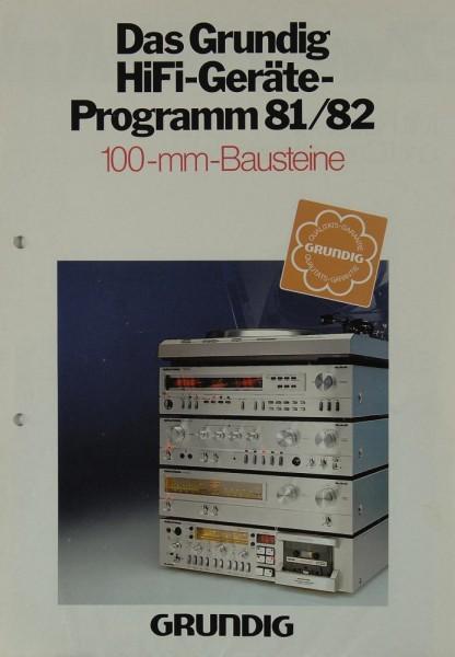 Grundig Programm 81/82 100-mm-Bausteine Prospekt / Katalog