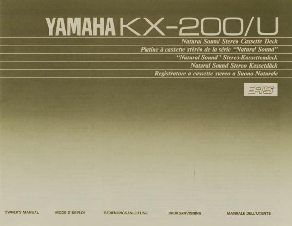 Yamaha KX-200/U Bedienungsanleitung