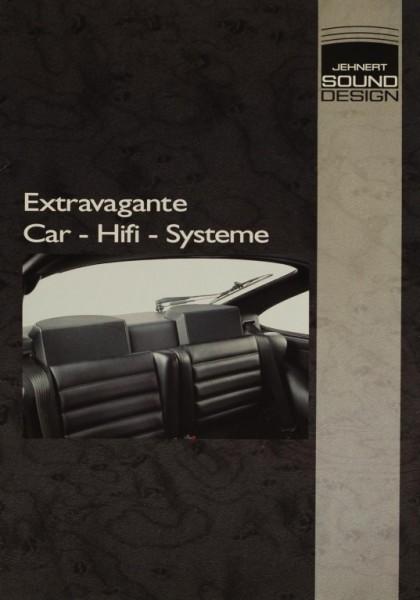 Jehnert Sound Design Extravagante Car-Hifi-Systeme Prospekt / Katalog