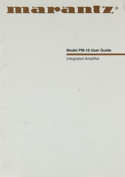 Marantz PM-16 Bedienungsanleitung