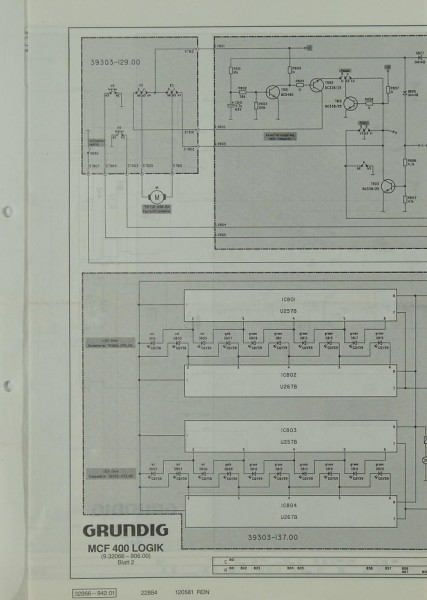 Grundig MCF 400 Schaltplan / Serviceunterlagen