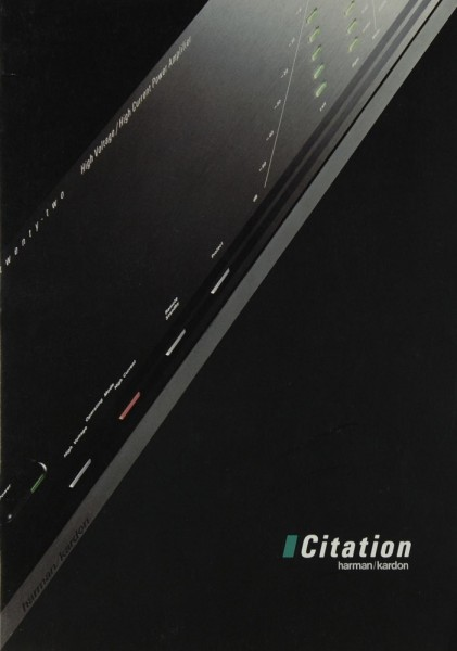 Harman / Kardon Citation Serie (21/23/22/24) Prospekt / Katalog