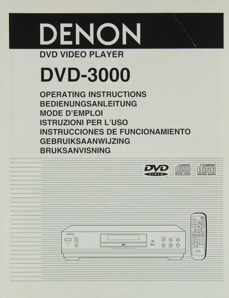 Denon DVD-3000 Bedienungsanleitung