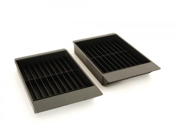 2 Braun Schubladen für 20 MCs für GS-Schränke