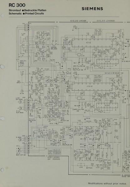 Siemens RC 300 Schaltplan / Serviceunterlagen