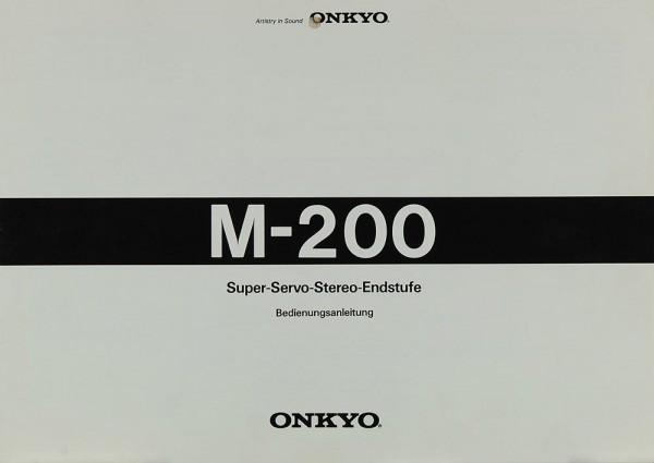 Onkyo M-200 Bedienungsanleitung