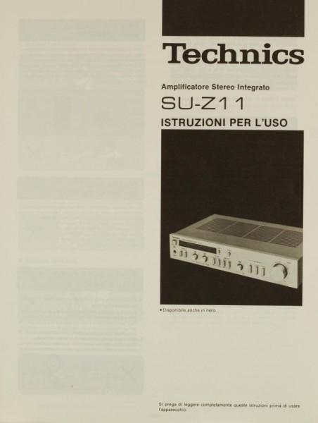 Technics SU-Z 11 Bedienungsanleitung