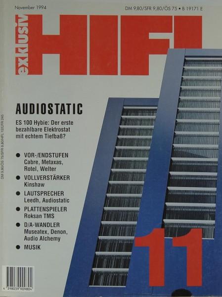 Hifi Exklusiv 11/1994 Zeitschrift