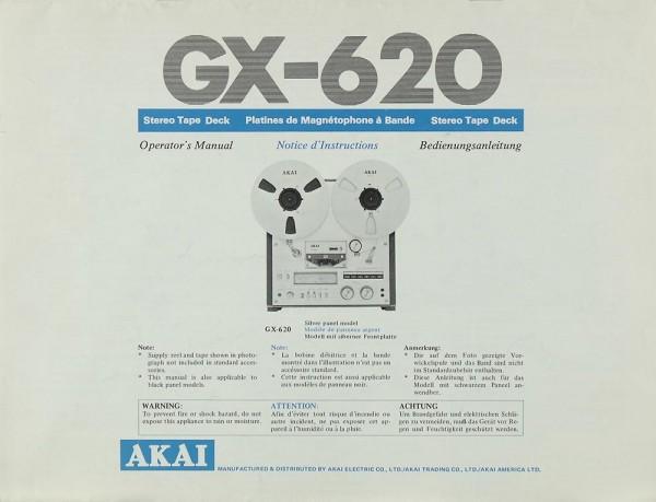 Akai GX-620 Bedienungsanleitung