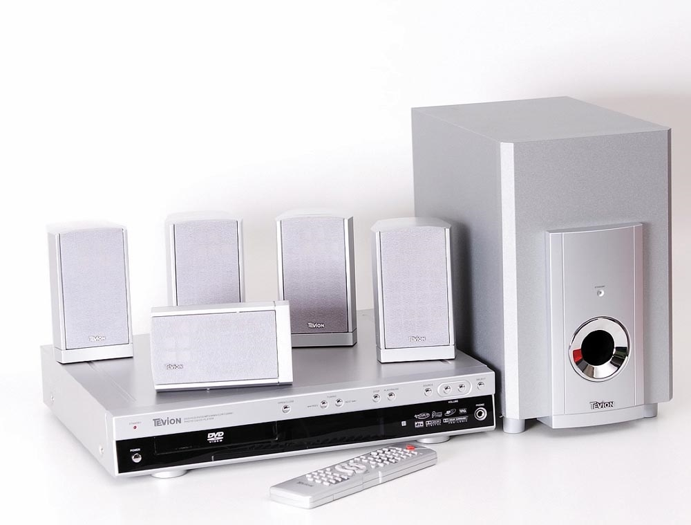 tevion dr 1750 dvd receiver mit boxenset mit. Black Bedroom Furniture Sets. Home Design Ideas