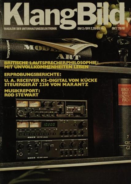 KlangBild 10/1978 Zeitschrift
