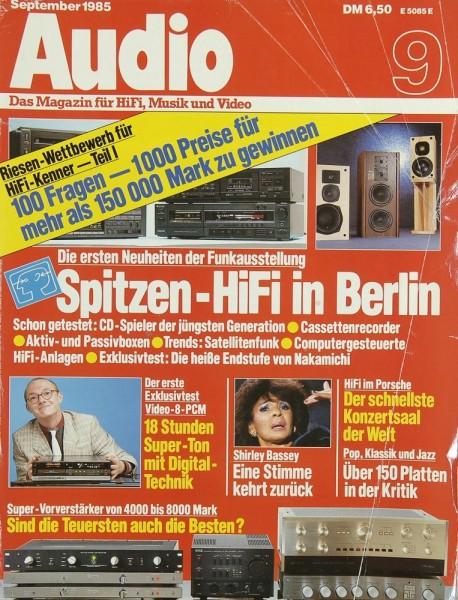 Audio 9/1985 Zeitschrift