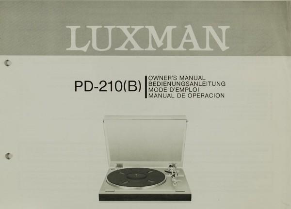 Luxman PD-210 (B) Bedienungsanleitung