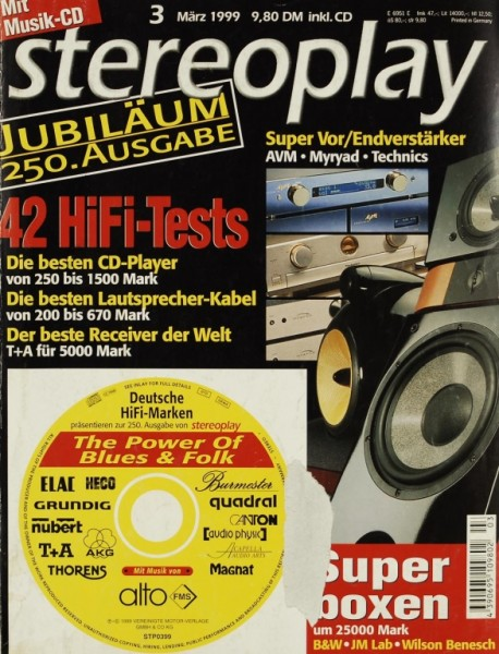 Stereoplay 3/1999 Zeitschrift