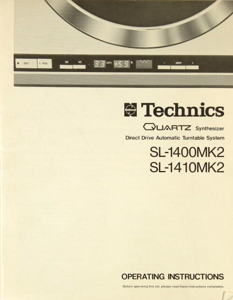 Technics SL-1400 MK 2 / SL-1410 MK 2 Bedienungsanleitung