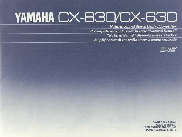 Yamaha CX-830 / CX-630 Bedienungsanleitung