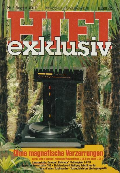 Hifi Exklusiv 8/1980 Zeitschrift