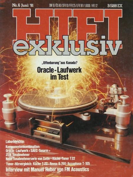 Hifi Exklusiv 6/1981 Zeitschrift