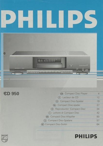 Philips CD 950 Bedienungsanleitung
