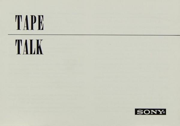 Sony Tape-Talk Sonstige Literatur