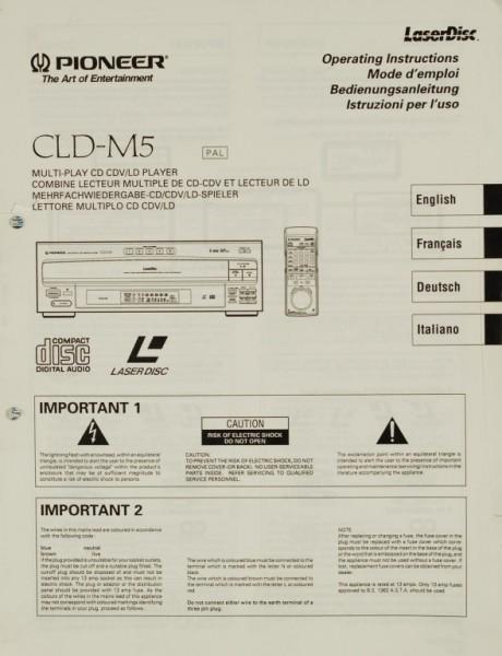 Pioneer CLD-M 5 Bedienungsanleitung