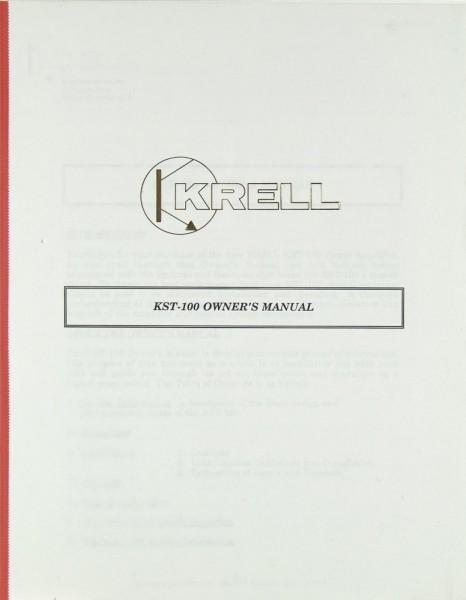Krell KST-100 Bedienungsanleitung