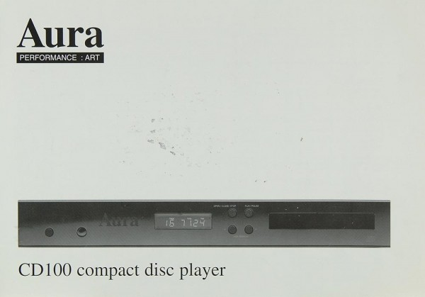 Aura CD 100 Bedienungsanleitung