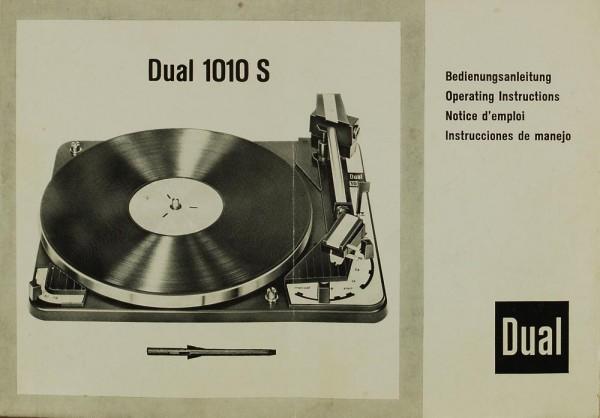 Dual 1010 S Bedienungsanleitung