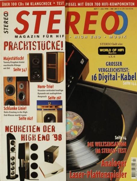 Stereo 7/1998 Zeitschrift