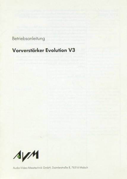 AVM Evolution V 3 Bedienungsanleitung