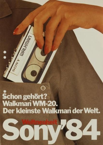 Sony Sony ´84 - Walkman WM-20 Prospekt / Katalog
