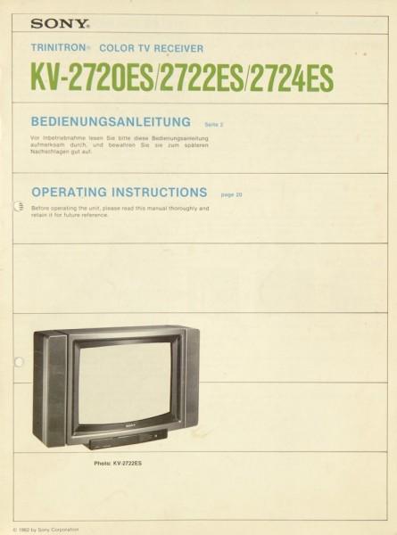 Sony KV-2720 ES / KV-2722 ES / KV-2724 ES Bedienungsanleitung