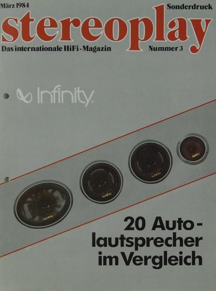 Stereoplay Sonderdruck März 1984 Testnachdruck