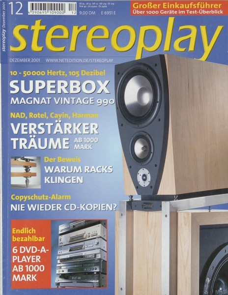 Stereoplay 12/2001 Zeitschrift