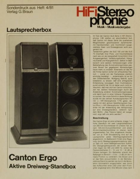 Canton Ergo Testnachdruck