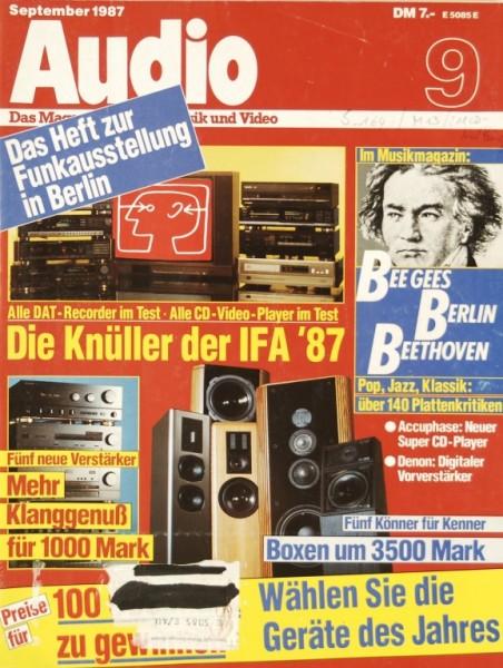 Audio 9/1987 Zeitschrift