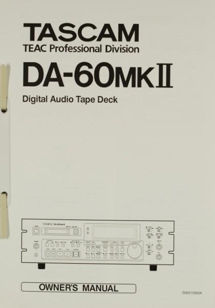 Tascam DA-60 MK II Bedienungsanleitung