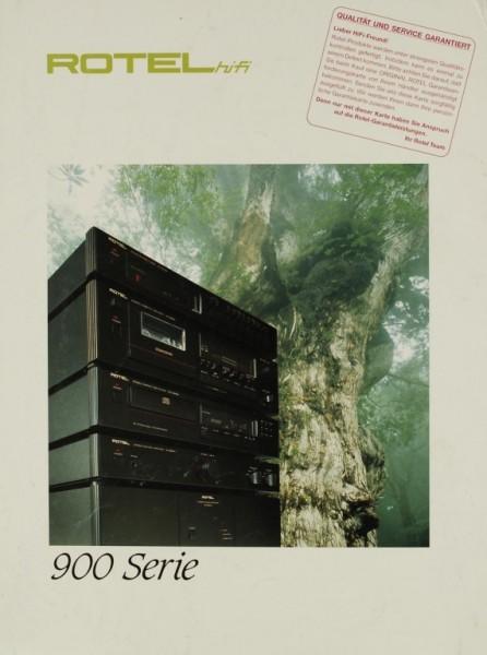 Rotel 900 Serie Prospekt / Katalog