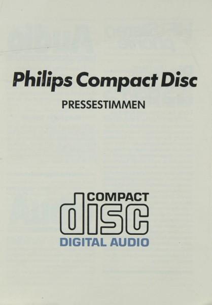 Philips Pressestimmen Philips CD-100 Testnachdruck