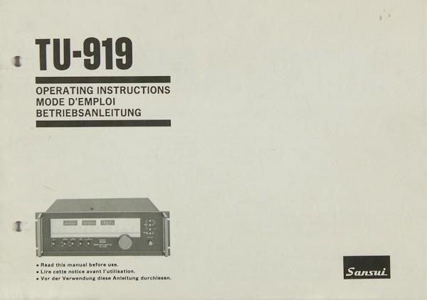 Sansui TU-919 Bedienungsanleitung
