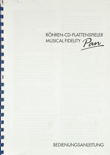 Musical Fidelity Pan Bedienungsanleitung