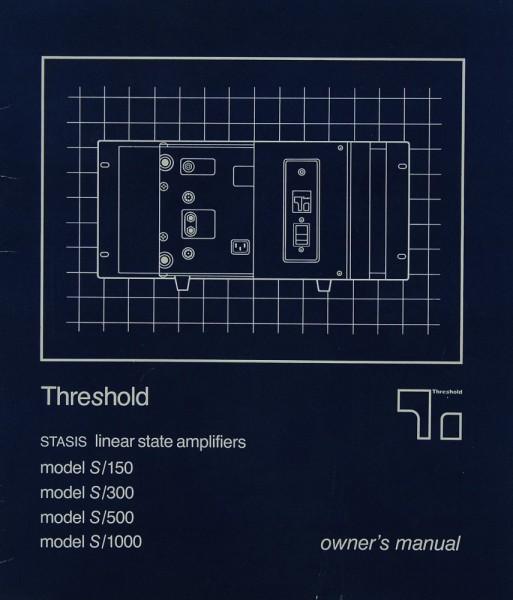Threshold S / 150 / 300 / 500 / 1000 Bedienungsanleitung