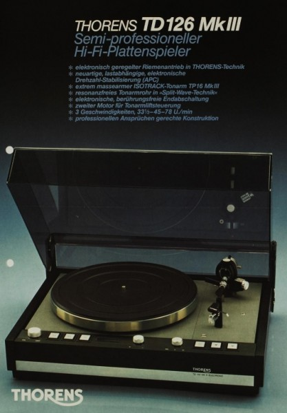 Thorens TD 126 MK III Prospekt / Katalog