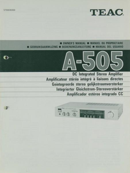 Teac A-505 Bedienungsanleitung