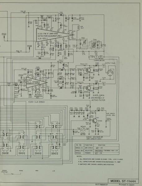 Sharp ST-1144 H Schaltplan / Serviceunterlagen