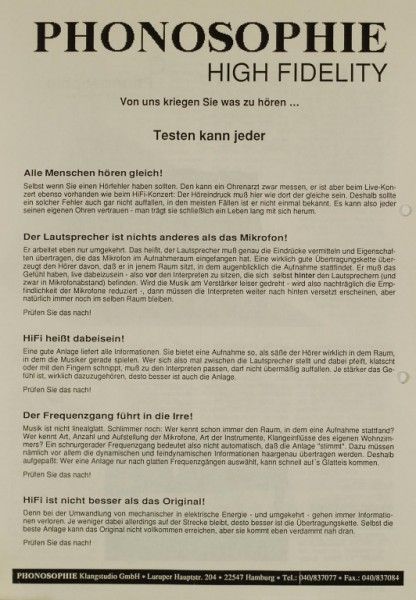 Phonosophie N°. 3 / PS + Naim Aro Testnachdruck