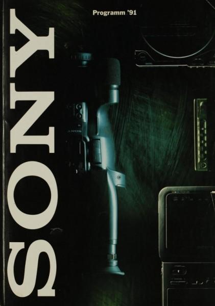 Sony Programm ´91 Prospekt / Katalog