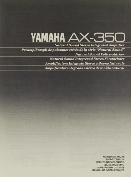 Yamaha AX-350 Bedienungsanleitung