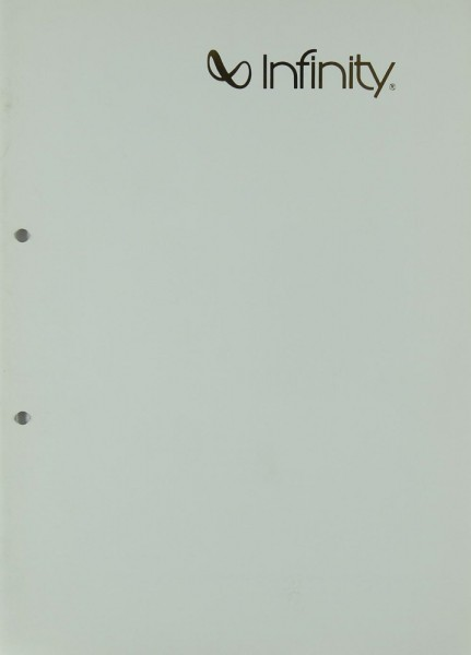 Infinity Produktübersicht Prospekt / Katalog