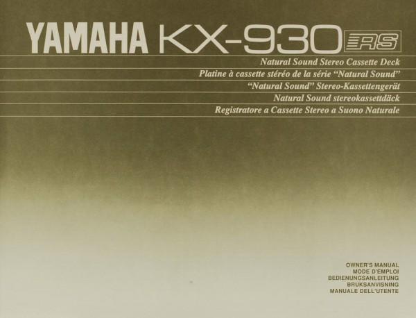 Yamaha KX-930 Bedienungsanleitung